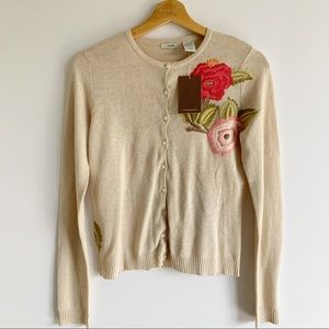 Anthropologie Odille Embroidered Cardigan